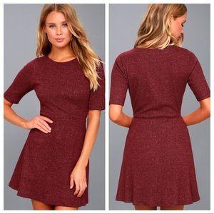 Lulu's | Red Heather Skater Dress